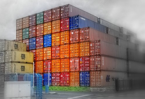 Container, Ship Container, Port, Customs Port