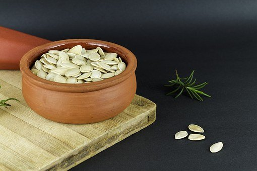 Kap, Pot, Bowl, Terry, Earthen Pot, Pumpkin, Seed, Core