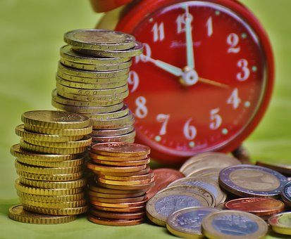 Time Is Money, Coins, Currency, Euro