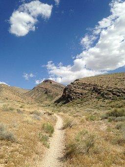 Trail, Clouds, Hill, Hillside, Hiking, Hiking Trail