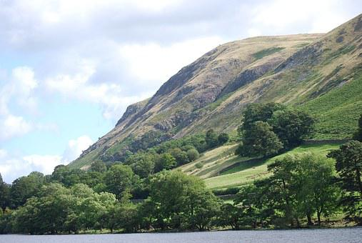 Lake District, Hillside, Trees, Cumbria, Mountain, Hill