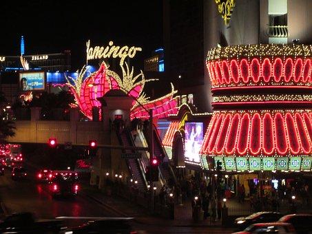 Las Vegas, Strip, Flamingo Neon, Nevada, Gambling, Sign