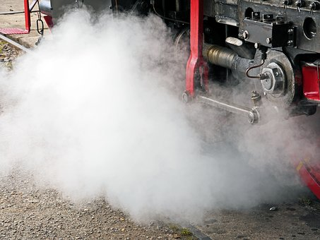 Steam Locomotive, Steam, Piston Rod, Phillips, Slipway