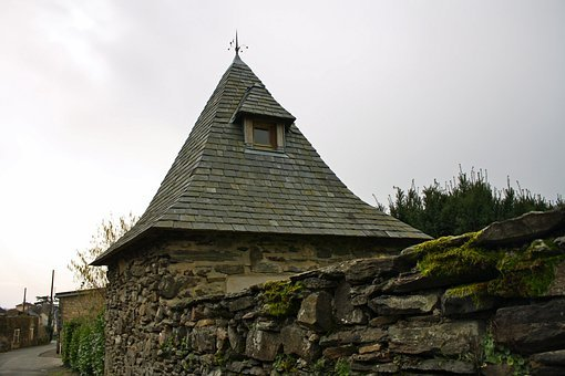 French Pigeonnier, Folly, Slated Roof, Stone Wall