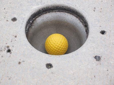 Hole, Ball, Mini Golf Ball, Putting, Target Circle