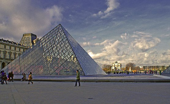 Pyramid, The Design Of The, Metal, Glass, Building