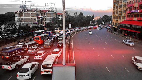 Nairobi, Traffic, Kenya, Cars, Highway, Skyline