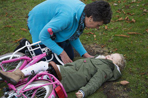 First Aid, Children, Child, Bicycle, Cases, Drive, Pain