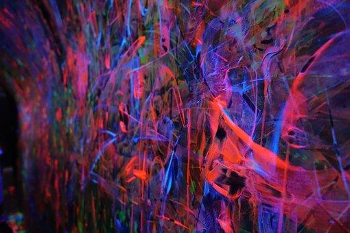 Lights, Glow, Neon, Luminous, Wall, Graffiti, Abstract