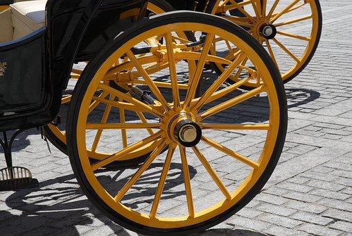 Fiaker, Horses, Vienna, Wheel, Dare