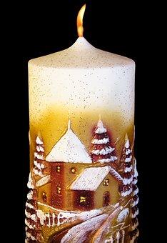 Christmas, Candle, Christmas Candle, Advent Candle
