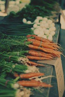 Carrots, Market, Vegetables, Fresh, Called Rothmans