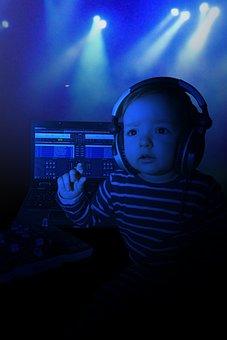 Child, Baby, Music, Listen, New Year's Eve, Sound