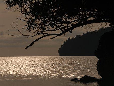 Night Sea, Togean, Island, Sunset, Sulawesi, Indonesia