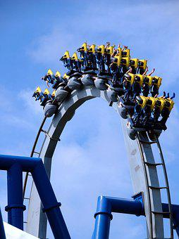 Roller Coaster, Ride, People, Fun, Amusement, Roller
