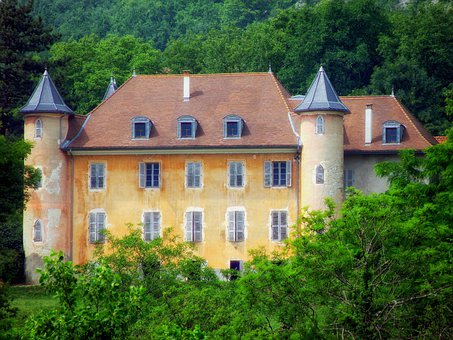 Chateau De Bornes, France, Castle, Historic, Historical