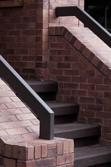 Staircase, Brick, Stairs, Steps, Wall, Stairway