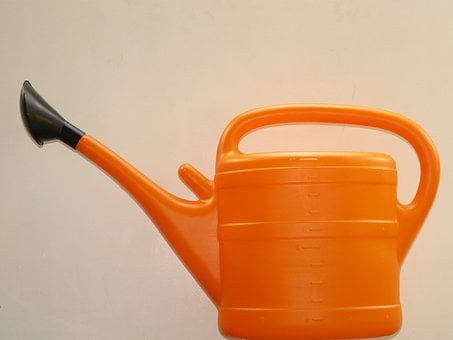 Watering Can, Casting, Orange, Plastic, Water