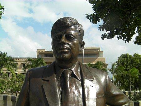 John Kennedy, Statue, President, America, Usa
