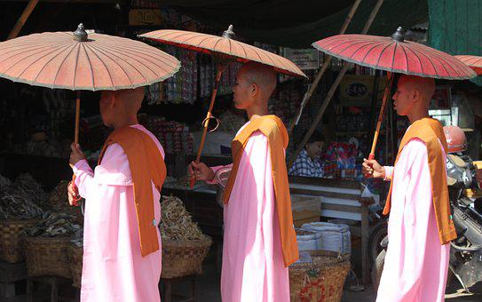 Monks, Myanmar, Buddhist, Asia, Buddha, Burma, Novice