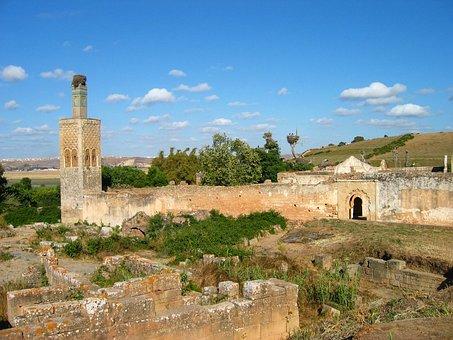 Morocco, Rebate, Chella, Ruins