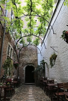 Romantic, Terrace, Cosy, Cafe, Antwerp, Belgium, Street