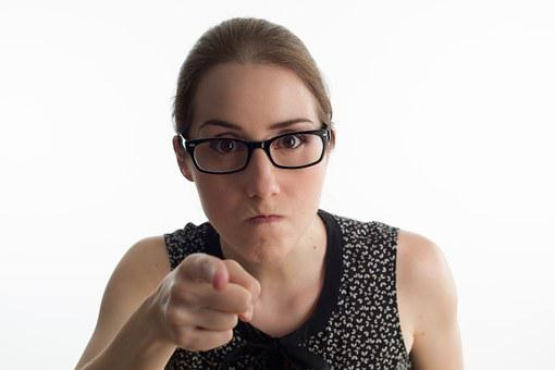 Woman, Angry, Case, Bezel, Secretariat, Office