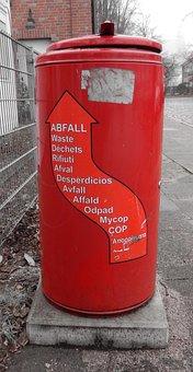 Recycle Bin, Waste Bins, Red, Disposal, Environment
