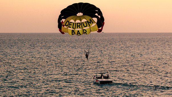 Paragliding, Sea Sport, Fly, Sky, Extreme, Parachute