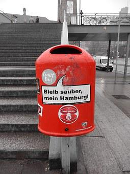 Recycle Bin, Garbage Can, Hamburg, Environment