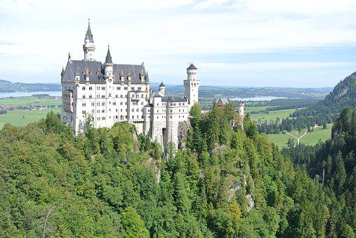 Neuschwanstein, Castle, Bavaria, Germany, Landmark