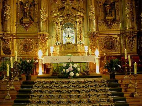 Palencia, Spain, Church, Cathedral, Interior, Inside