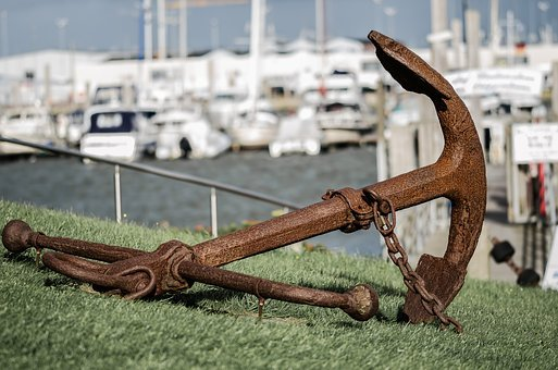 Shipping, Anchor, Ship, Port, Old, Boot, Rusted, Metal