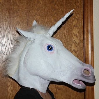 Unicorn, Mask, Animal, Masked, Face, Costume, Halloween