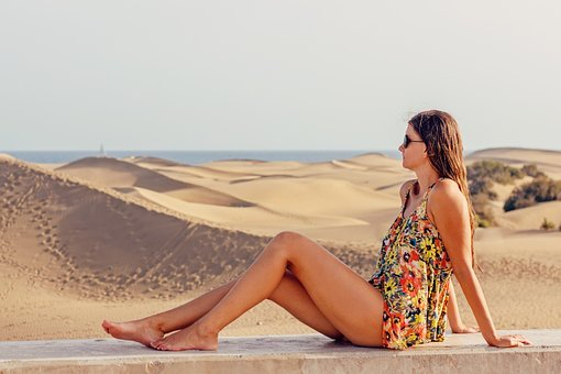 Young Woman, Holiday, Excursion, Woman