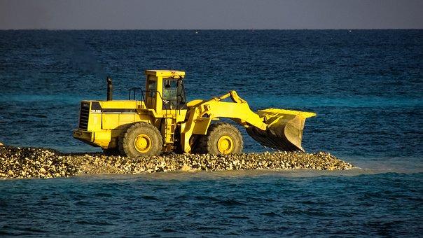 Bulldozer, Heavy Machine, Working, Construction