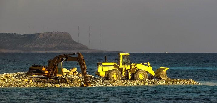 Bulldozer, Digger, Heavy Machine, Working, Construction