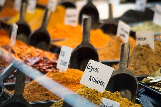 Spices, Flavors, Middle East, Turmeric, Saffron, Dust