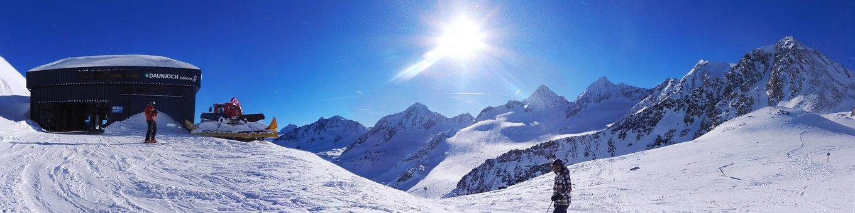 Panorama, Tyrol, Skiing, Stubai Glacier, Snow, Sun