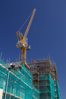 Crane, Building, Construction, Blue Sky, Building Site