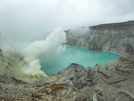 Ijen, Sulphur, Volcano, Indonesia, Java, Landscape
