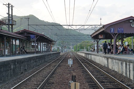 Track, Countryside, Train, Station, Electric Train
