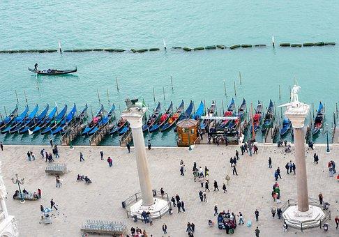 Gondola, Boats, Venice, Italy