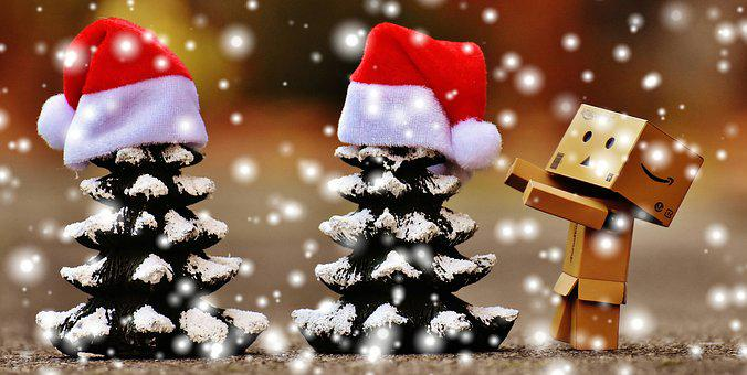Danbo, Christmas, Fig, Firs, Trees, Funny, Figures