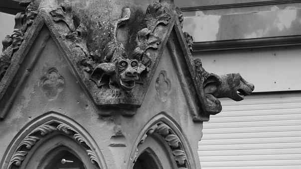 Gargoyles, Gothic, France, Stone Carvings