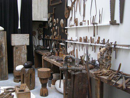 Workshop, Brancusi, Paris, Art Museum, Tools, Old