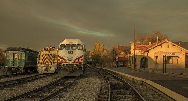 Railroad, Train Station, Santa Fe Station