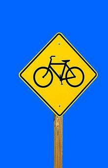 Bike Sign, Share The Road, Symbol, Warning, Bike, Sign