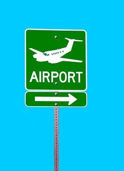 Airport, Sign, Direction, Information, Symbol, Text