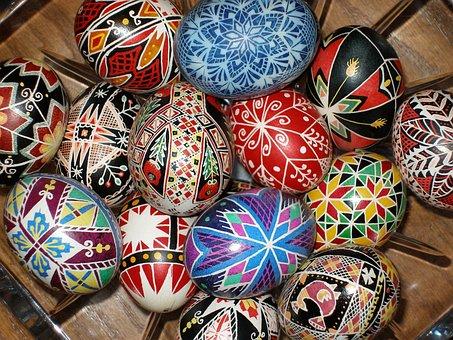 Pysanky, Easter Eggs, Traditional, Ukrainian, Pysanka